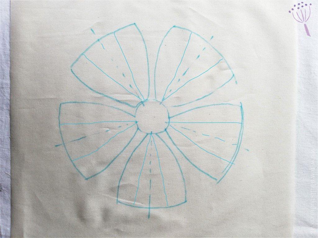 Outline for shibori flower 2
