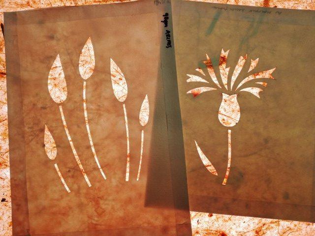 Watercolour paper stencils