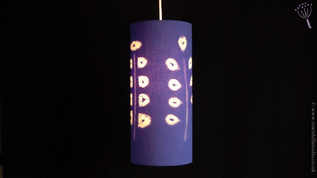 colourful mauve lampshade