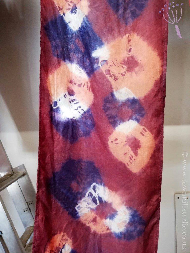 madder and logwood silk scarf Emilys